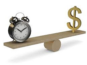 Time and Money on See-Saw