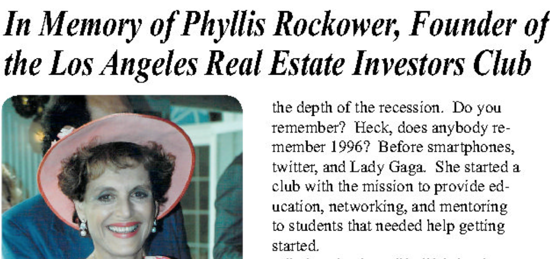 Phyllis Honored in Realty 411 Magazine this month